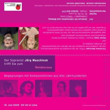 Begegnungen mit Komponistinnen aus drei Jahrhunderten Der ...