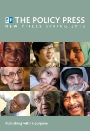 Spring 2013 catalogue - Policy Press