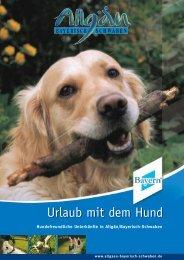 Inhalt Urlaub Hund.qxd - Allgäu