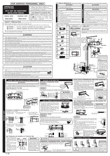 RAS-24C9/RAC-24C9 - Hitachi Air Conditioning Products