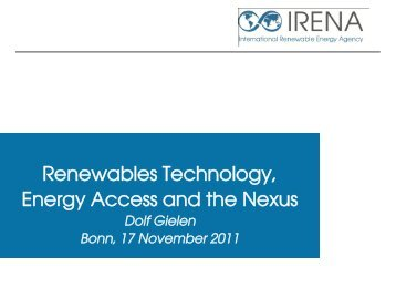 Dolf Gielen International Renewable Energy Agancy (IRENA)