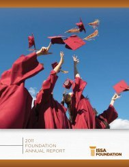 2011 FOUNdATION ANNUAL REPORT - ISSA.com