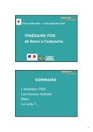 Itinéraire ITER de Berre à Cadarache [pdf] - iter france