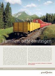 Familien: bitte einsteigen. - Graubünden