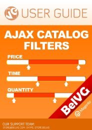Magento Ajax Filter User Guide? - BelVG Magento Extensions Store
