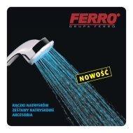Nowości 2008: rączki natrysków, zestawy natryskowe - Ferro