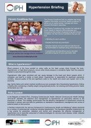 Hypertension Briefing - Institute of Public Health in Ireland