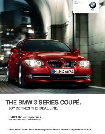 THE BMW  SERIES COUPÉ.