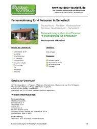 Ferienwohnung für 4 Personen in Sehestedt - Outdoor-Touristik