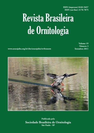 art01 - laranjeiras.indd - Sociedade Brasileira de Ornitologia