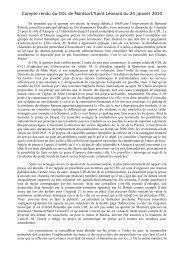 Compte rendu de réunion du 10-01-2010 - Alençon