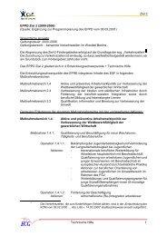 Ziel 2 Technische Hilfe 1 EPPD Ziel 2 (2000-2006) - ECG GmbH Berlin