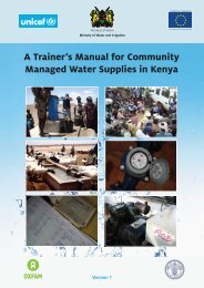A TrainerÕs Manual for Community Managed Water Supplies in Kenya