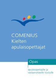 COMENIUS Kielten apulaisopettajat - CIMO Kansainvälisen ...
