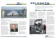 FFI-FAKTA: Smart mot miner - Forsvarets forskningsinstitutt