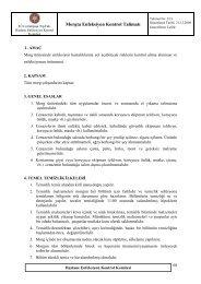 Morgta Enfeksiyon Kontrol Talimatı - İ.Ü. Cerrahpaşa Tıp Fakültesi