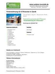 Ferienwohnung für 6 Personen in Zandt - Outdoor-Touristik