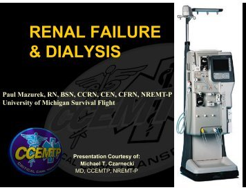 RENAL FAILURE & DIALYSIS
