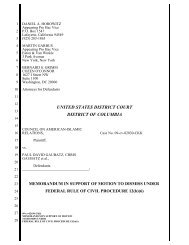 motion to dismiss the case filed in federal court in the nation's capital