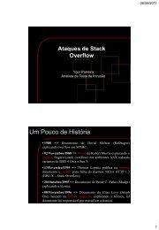 Ataques de Stack Overflow