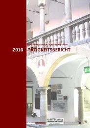 Tätigkeitsbericht - Gedenkstätte Schloß Hartheim