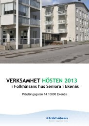 Offert, Karis stads broschyr - Folkhälsan