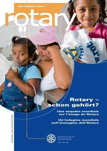 Rotary – schon gehört? - Rotary Schweiz