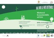 Weekend Ecosostenibile ad Este - Comune di Este