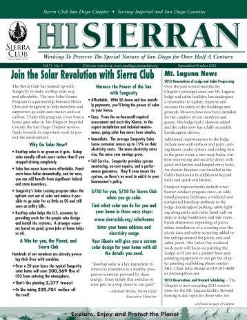 sept/oct 2012 - Sierra Club: San Diego Chapter