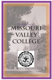 A Walking Tour of the Campus (PDF) - Missouri Valley College