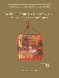 artistic traditions of korea & japan - The Metropolitan Museum of Art