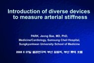 Introduction of diverse devices to measure arterial stiffness