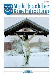 Gemeindezeitung Nr. 18 vom Dezember 2005 - Mühlbachl - Land Tirol