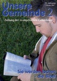 Zeitung der evangelischen Gehörlosen - Die DAFEG
