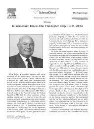 In memoriam: Ernest John Christopher Polge (1926–2006)