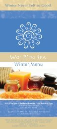 Winter Menu - Buffalo Thunder Resort & Casino