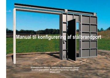 Manual til porten - Produktkonfigurering i byggeriet.