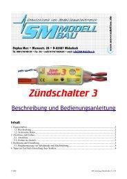 SM Anleitung Zündschalter 3 v1.01 - SM-Modellbau