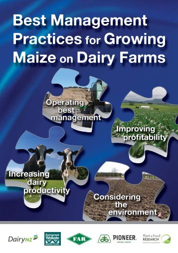 Best Management Practices for Growing Maize on Dairy Farms