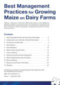 Best Management Practices for Growing Maize on Dairy Farms - Page 3