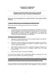 checklist f - Law Society of Singapore
