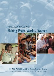 Making Peace Work for Women - NGO Working Group on Women ...