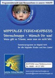 Wipptaler Ferienexpress - Verein Sternschnuppe