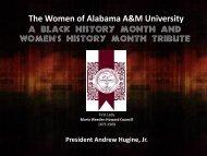 s history - Alabama A&M University