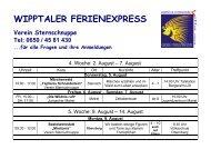 WIPPTALER FERIENEXPRESS - Obernberg