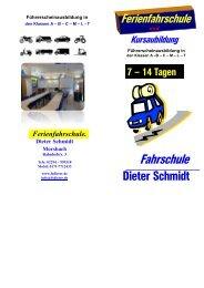 Ferienfahrschule.. Dieter Schmidt Morsbach - Fahrschule Schmidt