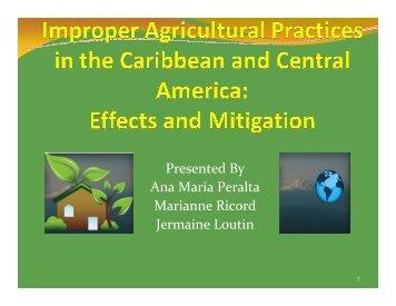 Improper Agricultural Practices in