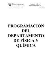 PROGRAMACIÓN DEL DEPARTAMENTO DE FÍSICA Y QUÍMICA