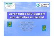 Aeronautics RTD Support and Activities in Ireland (Aerodays ... - AirTN