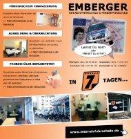 Flyer aktuell - Fahrschule Emberger